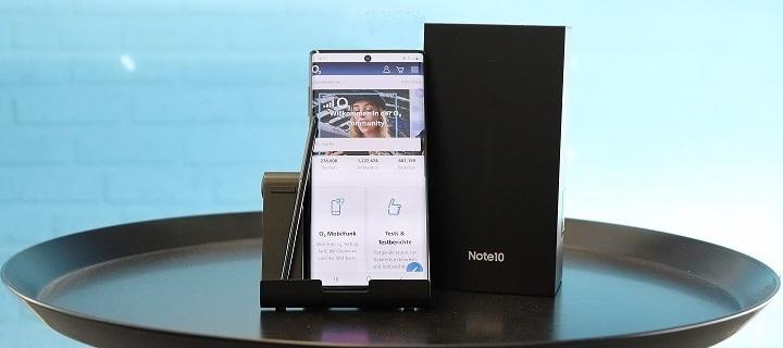 Samsung Galaxy Note 10 - lass Gesten sprechen und teste das Infinity-O Display.