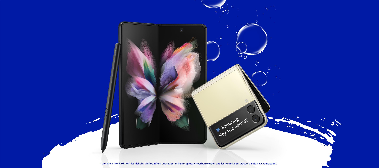 Die neuen Samsung Modelle Galaxy Z Flip3 und Z Fold3 bei O₂
