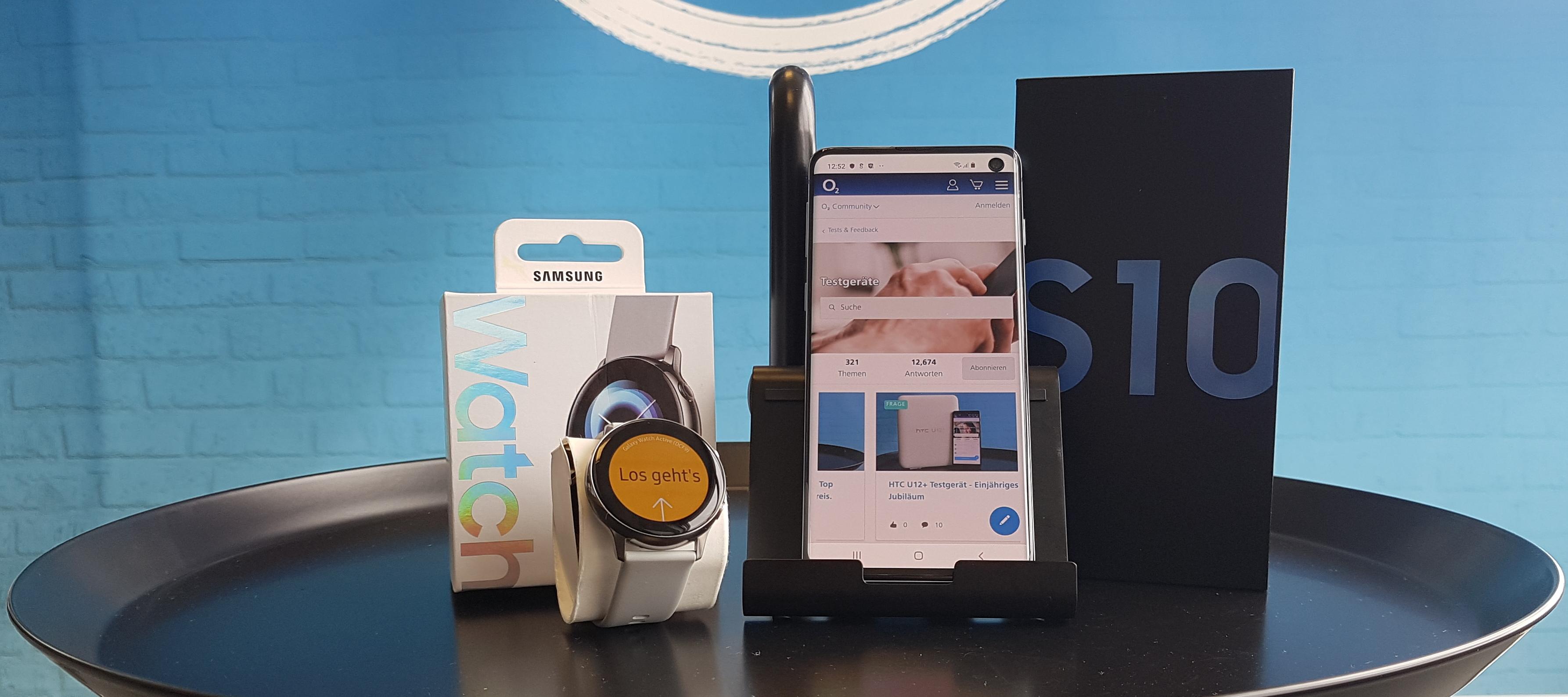 Samsung Galaxy S10 & Galaxy Watch Active Testbundle: Jetzt bewerben und Tester werden!