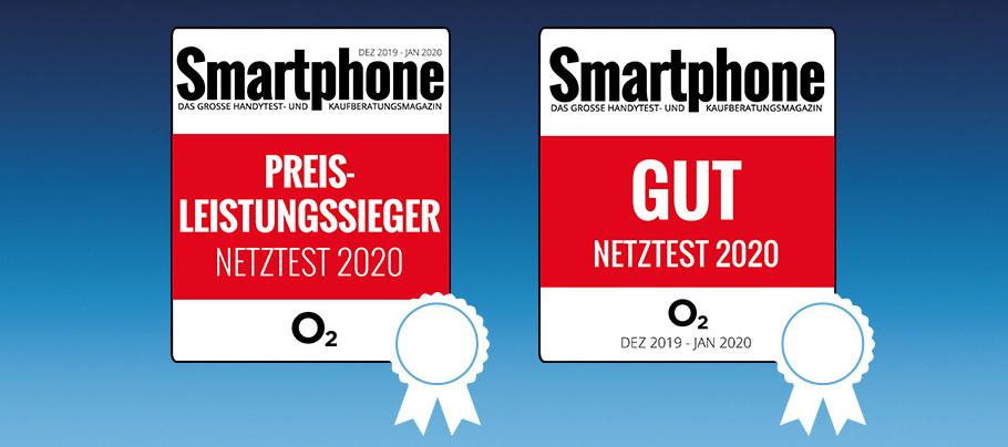 o2 ist Preis-Leistungs-Sieger beim Netztest des Smartphone Magazins!