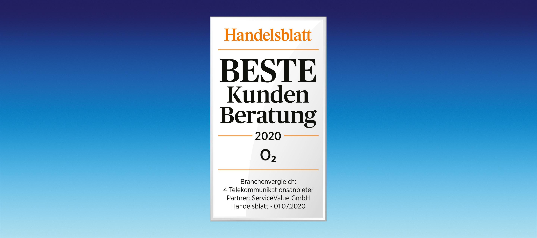 """O₂ im Handelsblatt-Ranking auf Platz 1 in der Kategorie """"Beste Kundenberatung"""""""