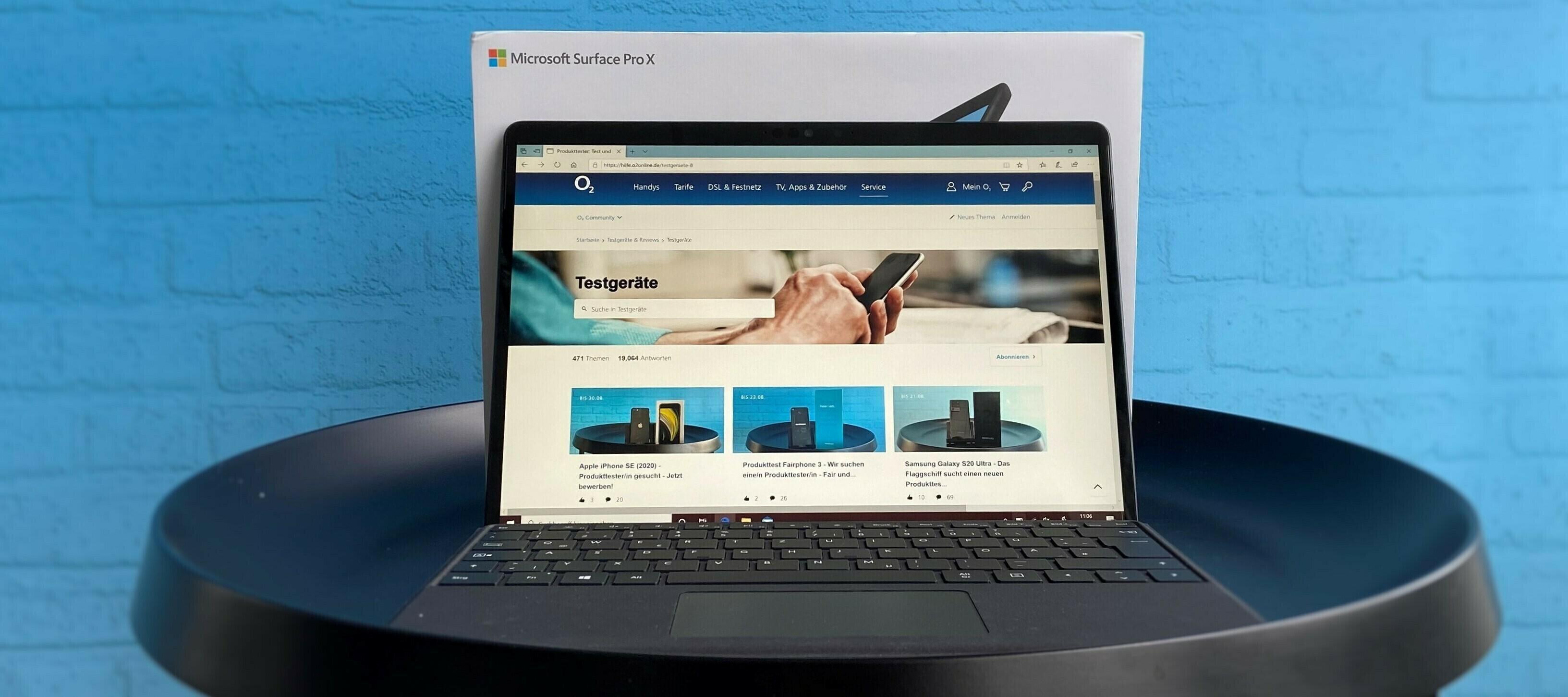 Microsoft Surface Pro X inkl. Signature Keyboard und Slim Pen - werde jetzt Community-Tester:in!