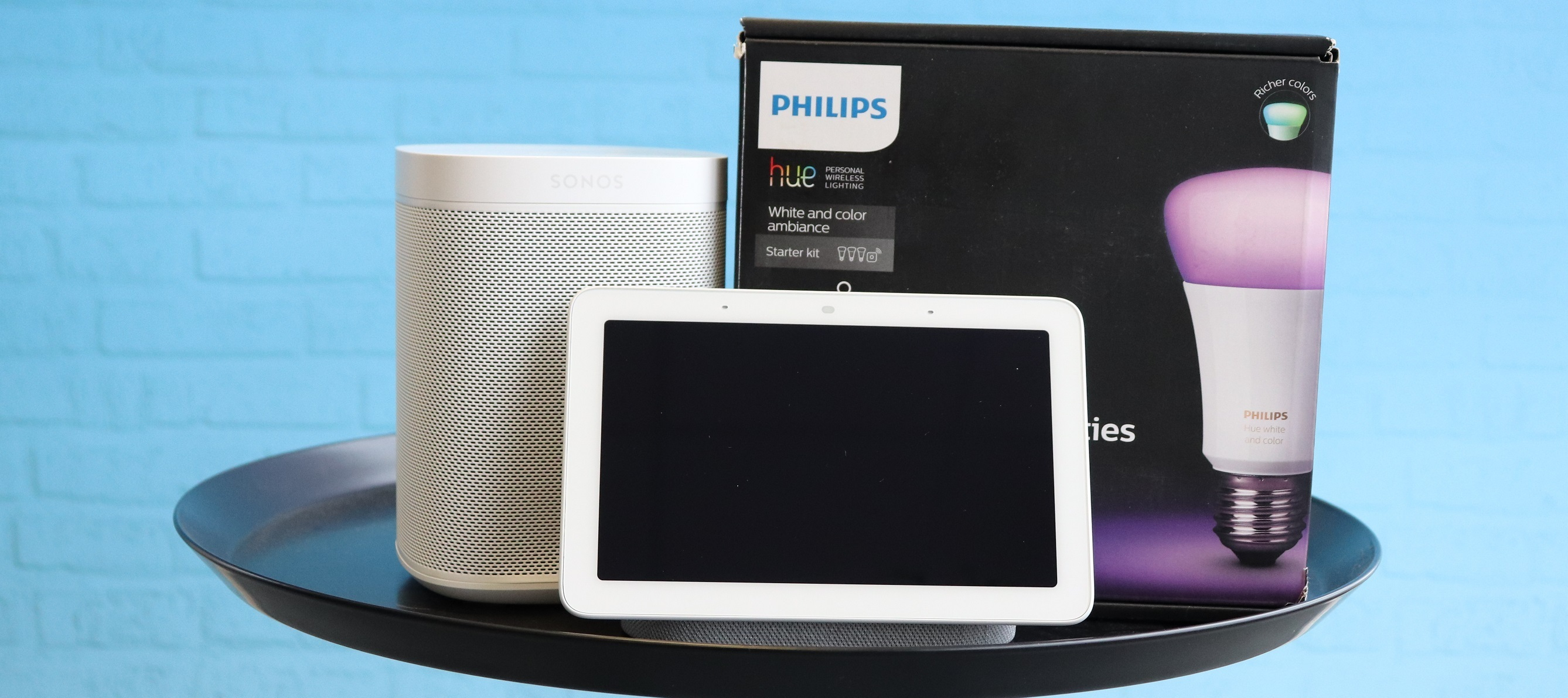"Smart-Home-Test-Bundle ""Sonos One, Philips Hue & Google Nest Hub"": Smart, smarter, Smart-Home-Starter!"