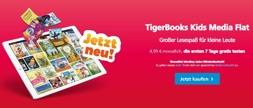 Digitaler Lesespaß für Kinder mit o2 Entertainment: Die TigerBooks Kids Media Flat