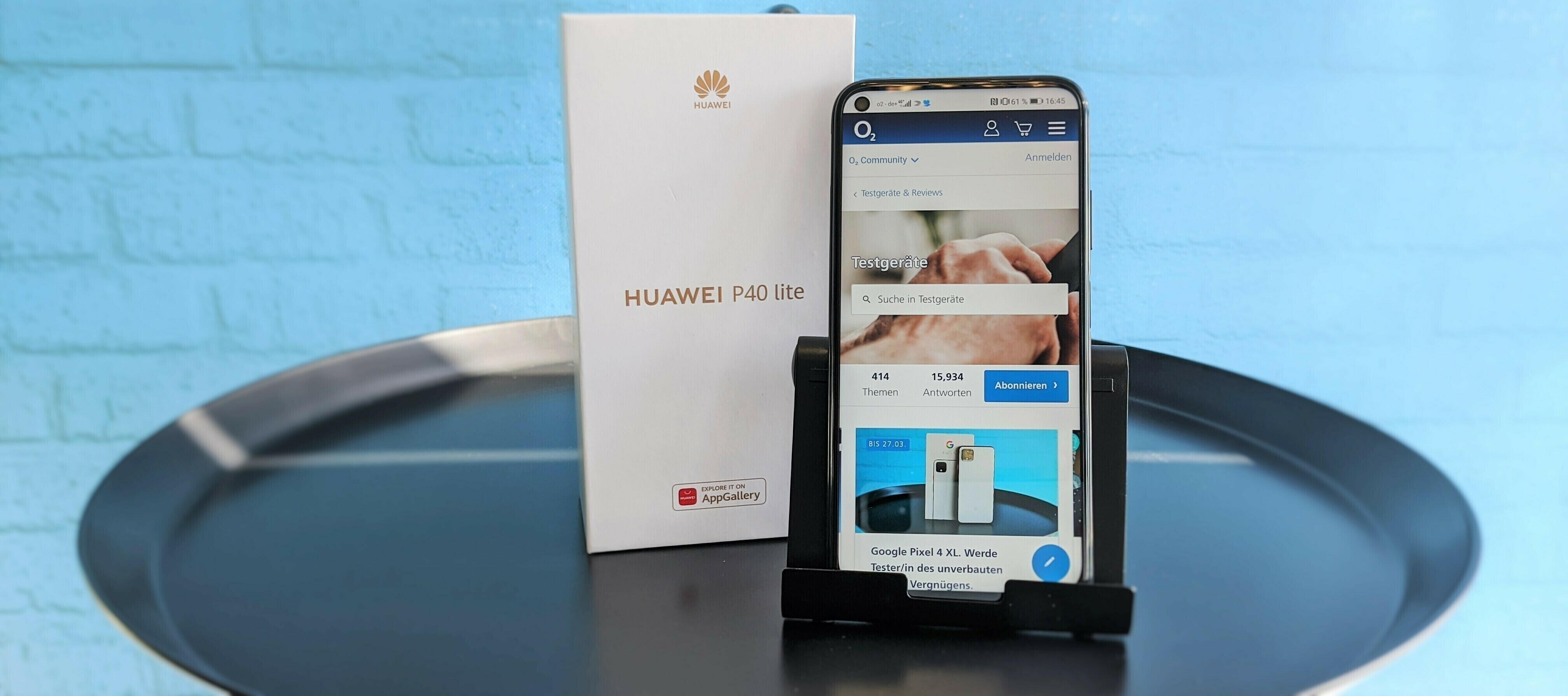Huawei P40 lite - die AppGallery mit Zukunft möchte getestet werden.