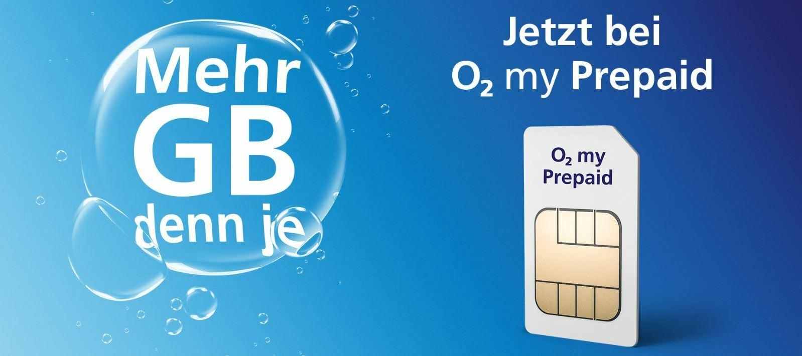 O₂ Prepaid: Jetzt 150 GB für 14,99 EUR.