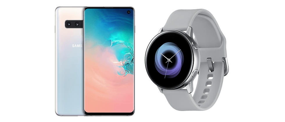 Teste das Samsung Bundle: Samsung Galaxy S10 + Samsung Galaxy Watch Active