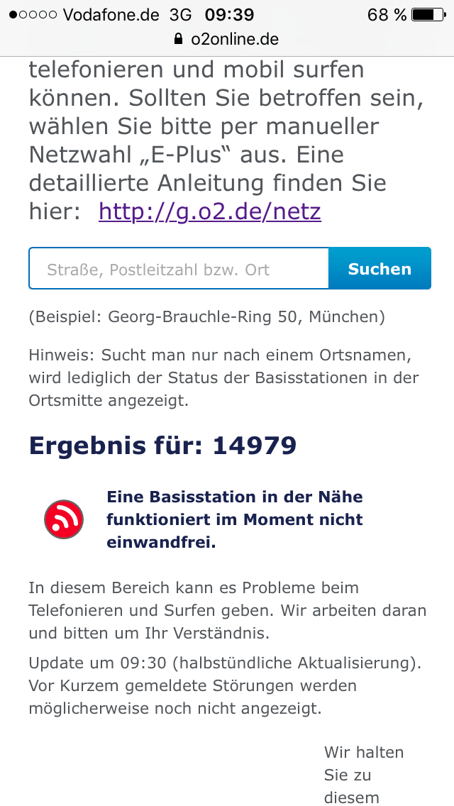 vodafone router blinkt rot