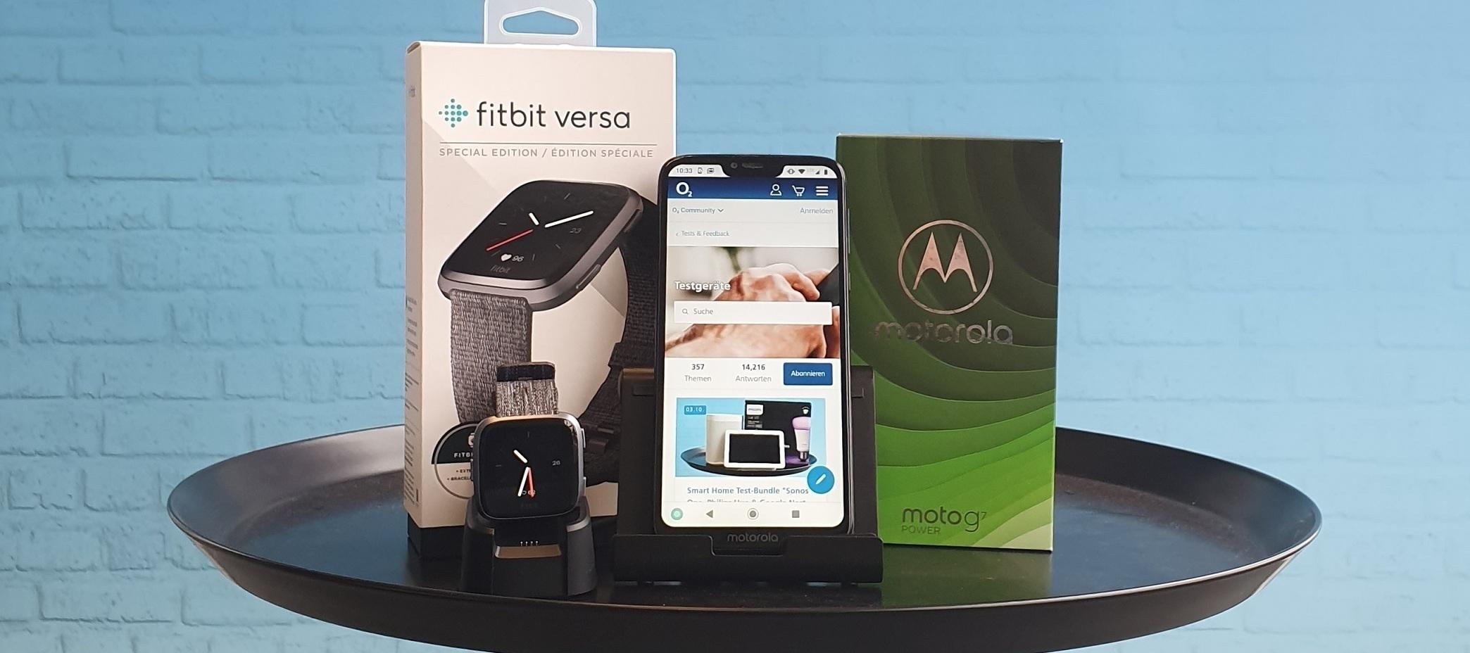 Motorola Moto G7 Power & Fitbit Versa Special Edition Testgeräte: Handy-Tester, Smartphone-Tester und Produkttester aufgepasst!