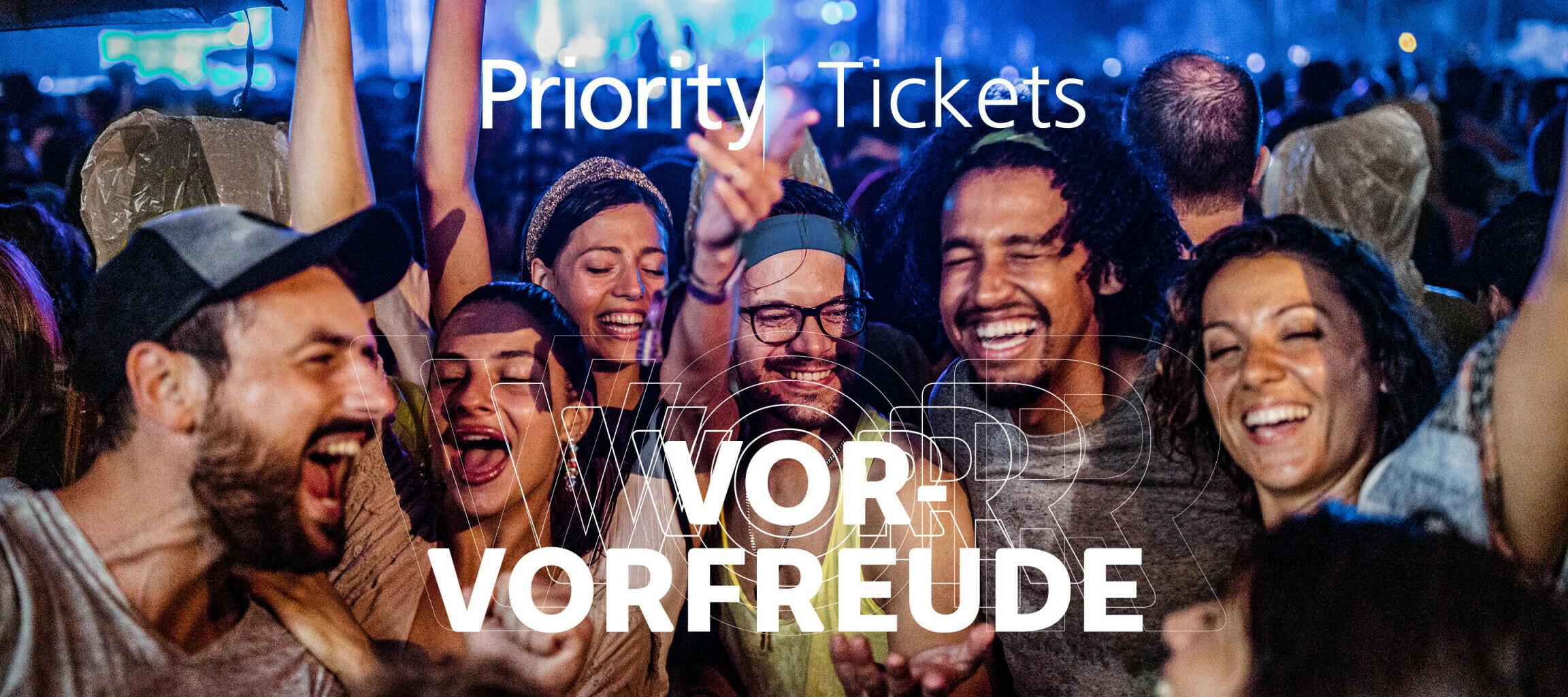 Exklusiver Ticket-Vor-Vorverkauf bei O₂ mit den Priority Tickets