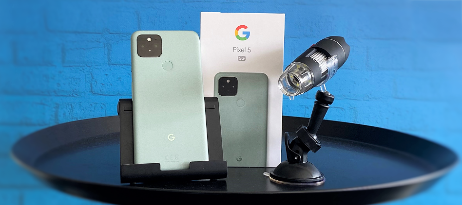 Teste jetzt das ultimative Dreamteam: Google Pixel 5 & Digital Microscope