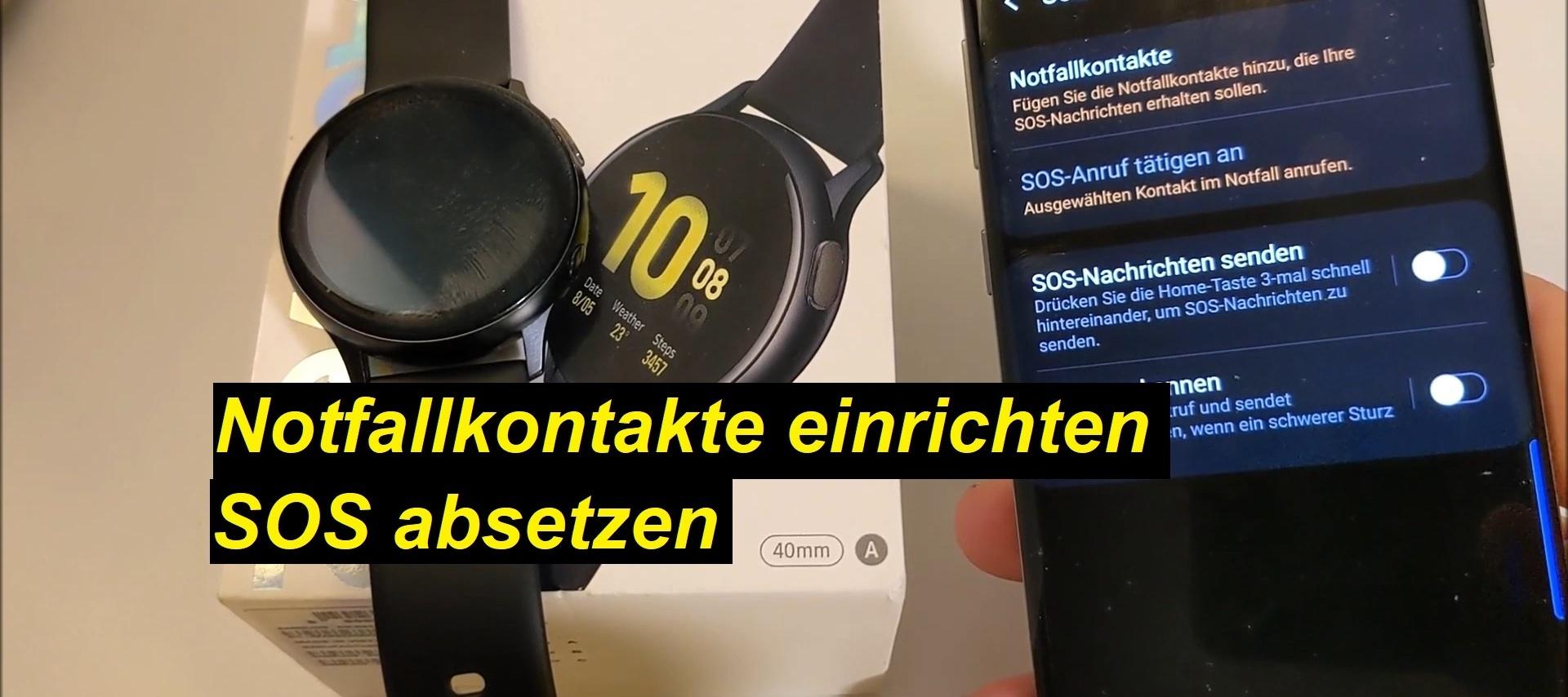 Notruf/SOS absetzen auf der Samsung Galaxy Watch Active2 - Tutorial