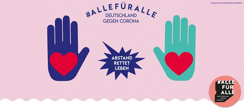 """""""Deutschland gegen Corona"""": Werde Teil der #AlleFürAlle-Bewegung"""