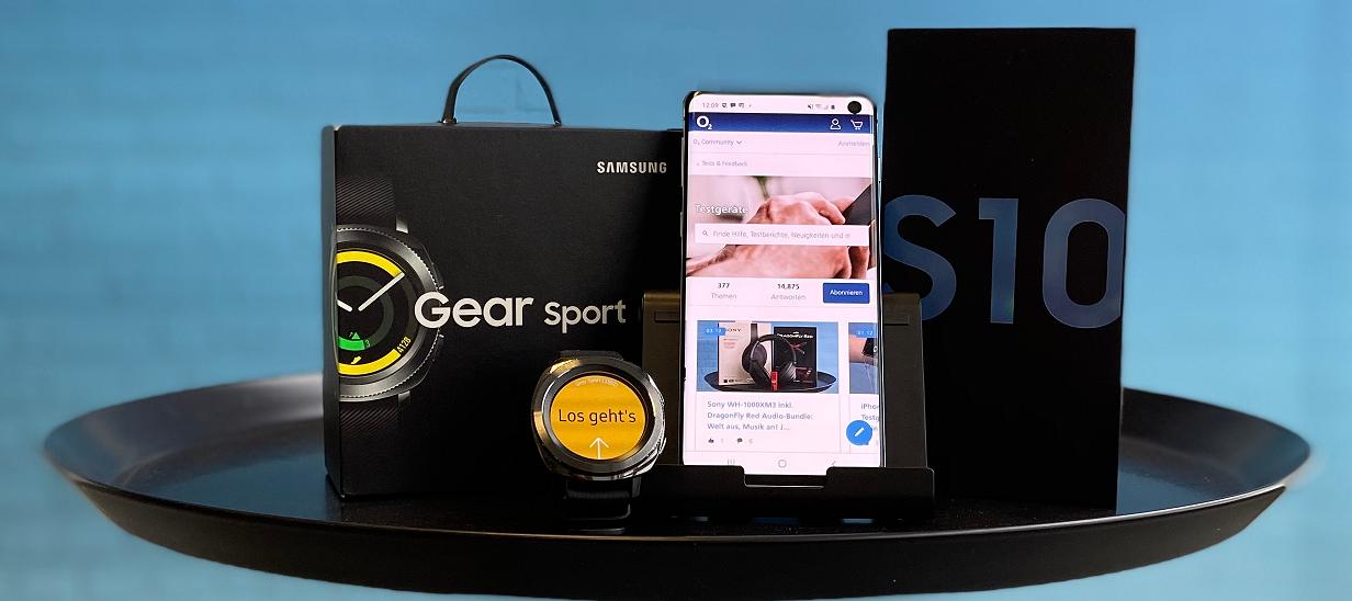 Sportliches Samsung Galaxy S10 & Gear Sport Bundle zum testen - jetzt bewerben