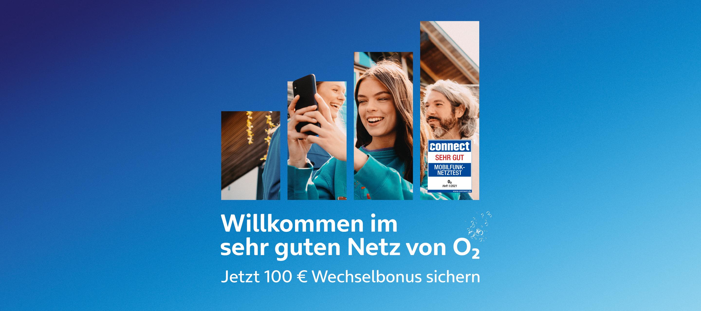 Beim Wechsel zu O₂ 100 EUR Wechselbonus sichern