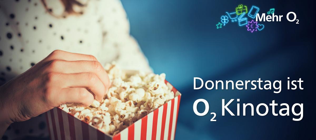 Der o2 Kinotag - Keine Filmpremiere verpassen! Ein Ticket kaufen, das zweite schenkt o2!