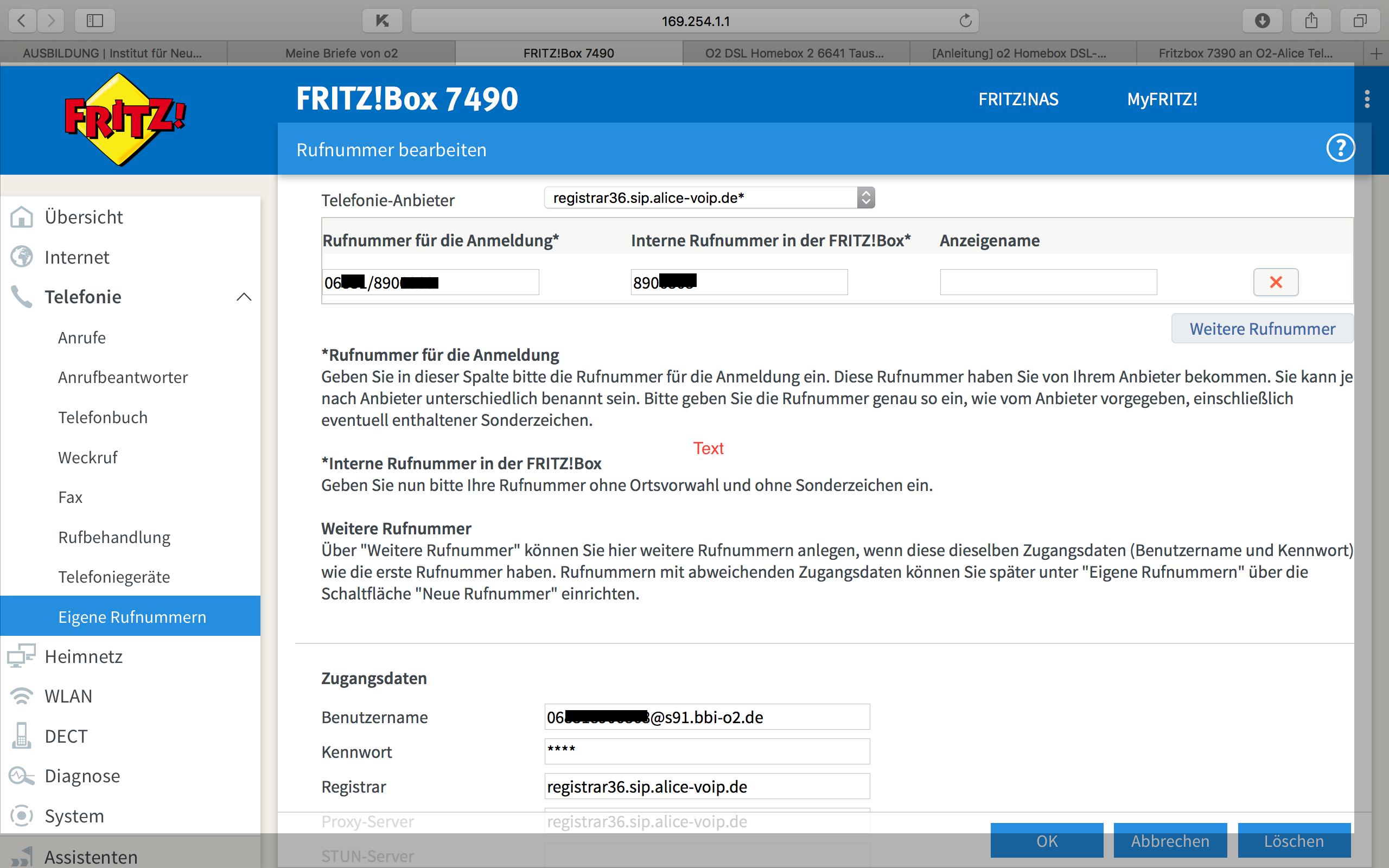 Einrichtung der Fritzbox 8 für VoIP Telefonie  O₂ Community