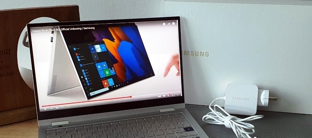 (Testbericht) Samsung Galaxy Book Flex2 5 G powered by O2