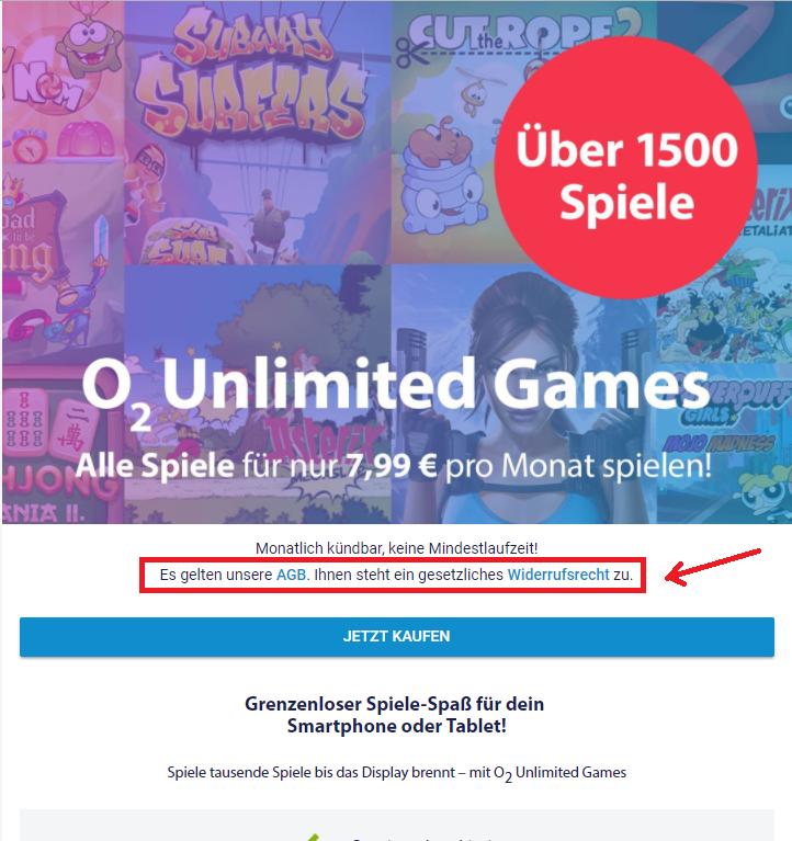 O2 Abo Unlimited Games widerrufen - wie?   O₂ Community