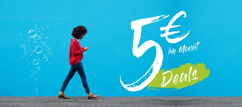 5 Deals für 5 EUR: Mehr Daten, Games und Entertainment