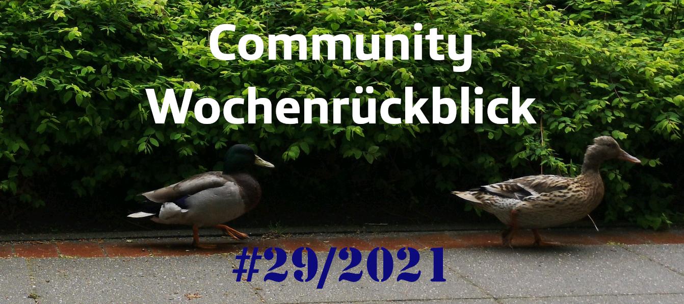 Community Wochenrückblick #29 2021