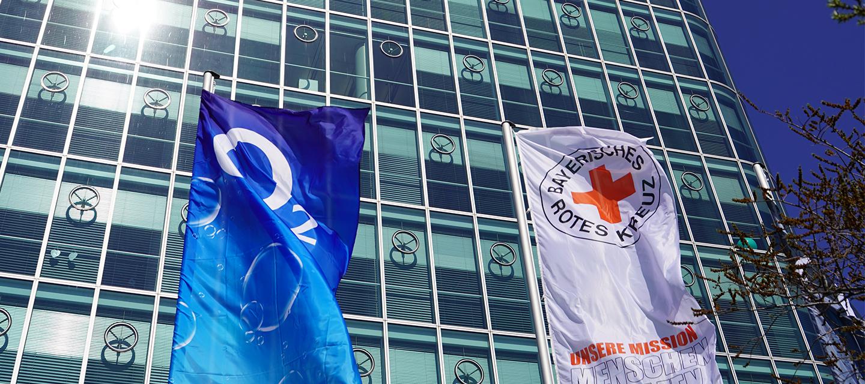 Gemeinsam gegen Corona: o2 stellt Tower für Bayerisches Rotes Kreuz zur Verfügung