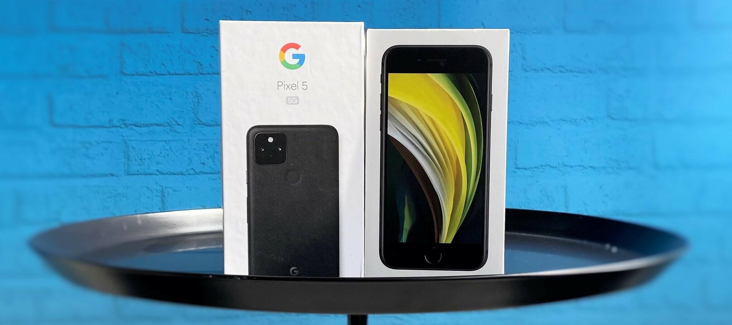 Google Pixel 5 5G vs. Apple iPhone SE - mach mit uns den Kameravergleich!