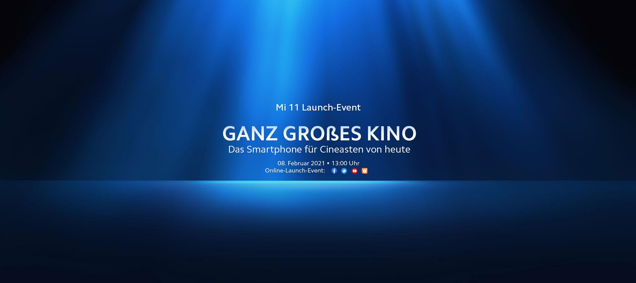 08.02.2021 13:00: Seid live dabei beim Mi 11 Launch-Event