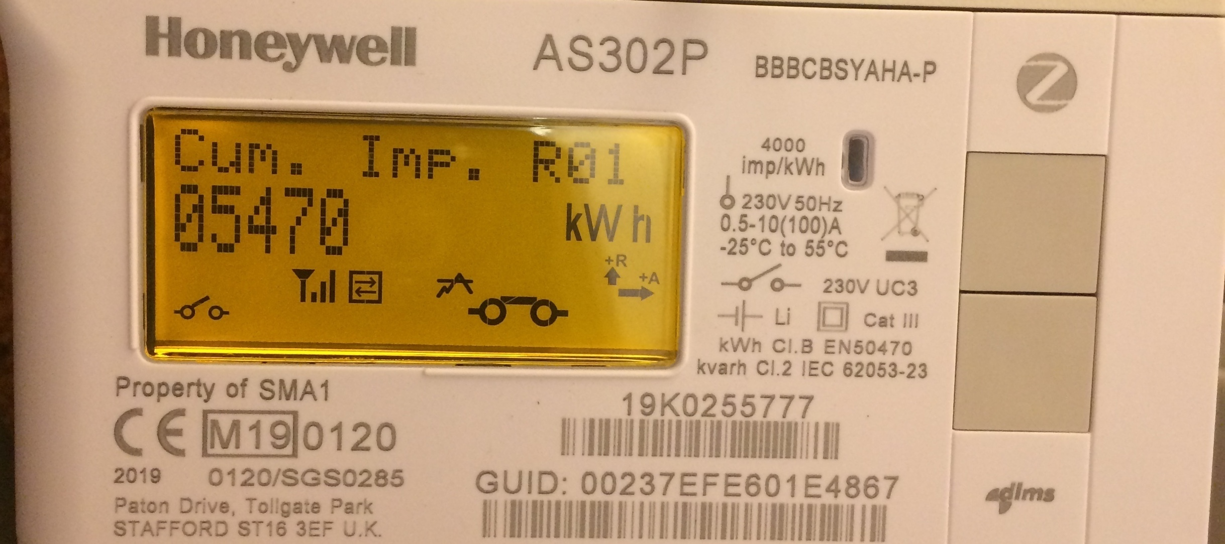 A guide on how to get Day / Night meter readings from a Honeywell AS302P S2 smart meter