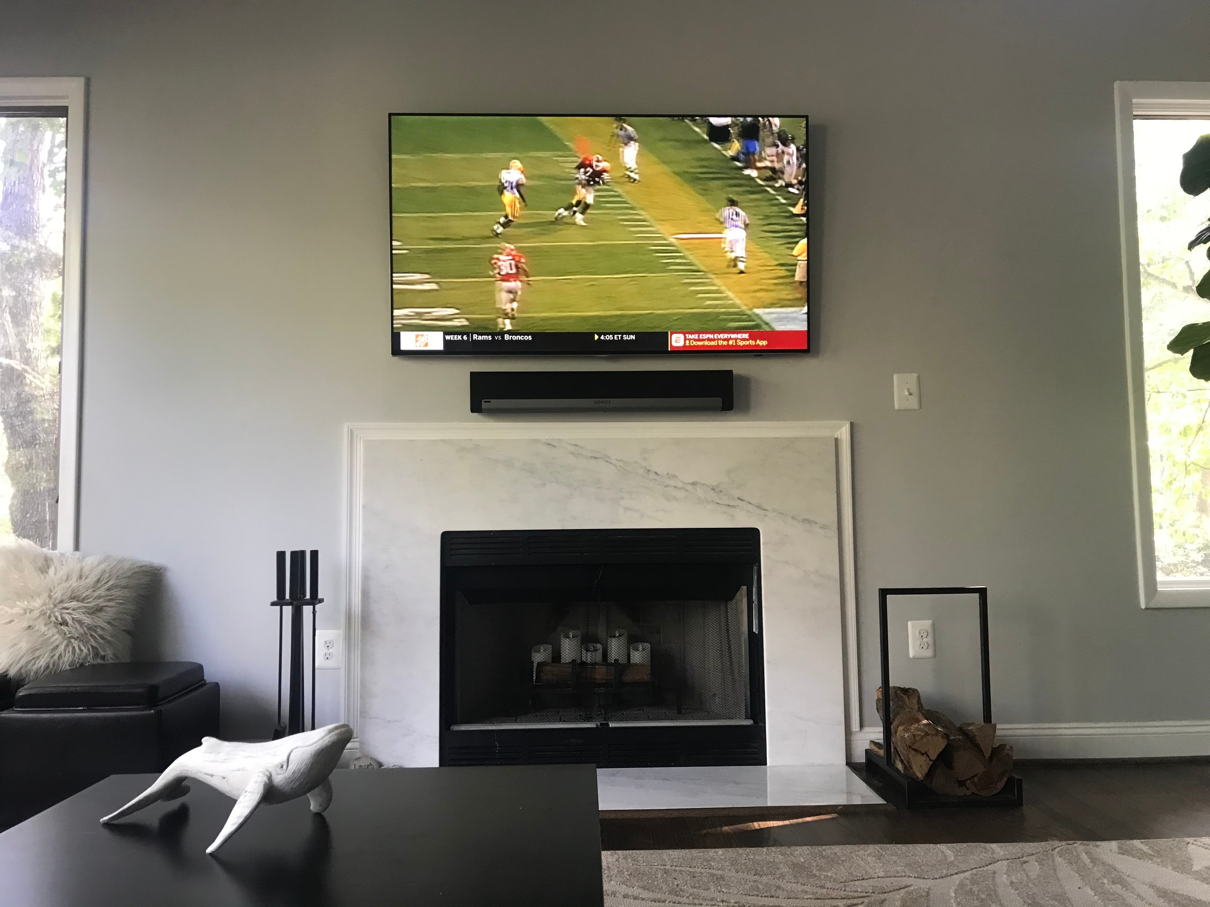 Advice On Playbar Placement Can It Go Above Tv Sonos Community