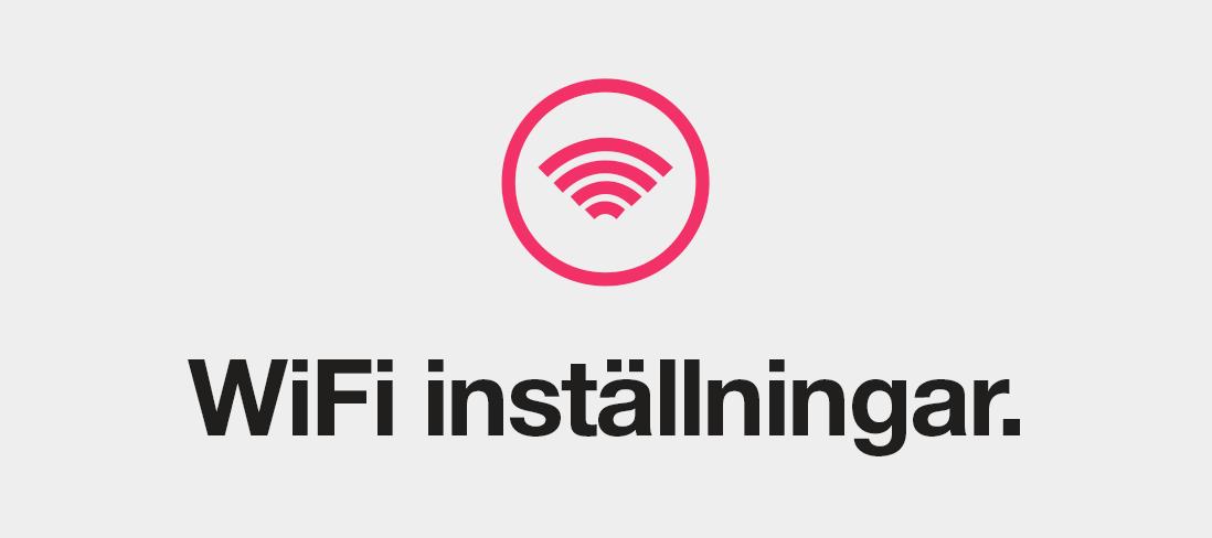 WiFi-inställningar för din router