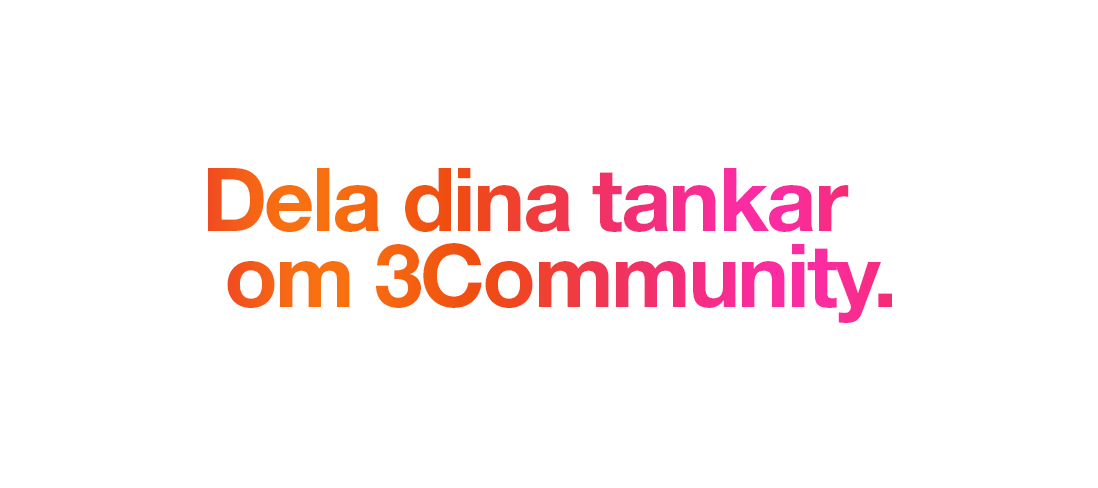 Var med och påverka 3Community