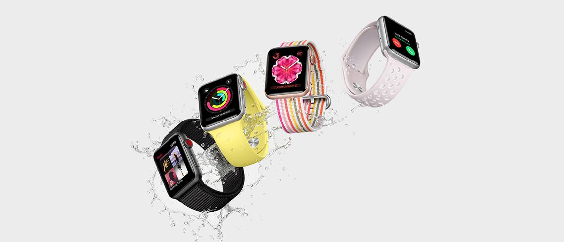 Apple Watch Series 3, 4 och 5 (GPS + Cellular)