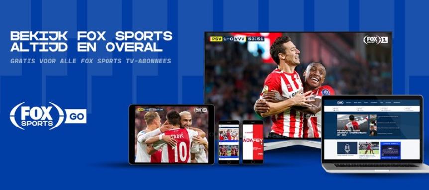 FOX Sports GO: bekijk alle topwedstrijden op je PC, tablet & smartphone
