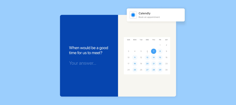 Meet Typeform's new Calendly app 🗓️