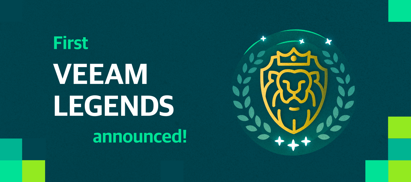 First Veeam Legends announced!